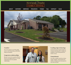 Howland Family Dental website